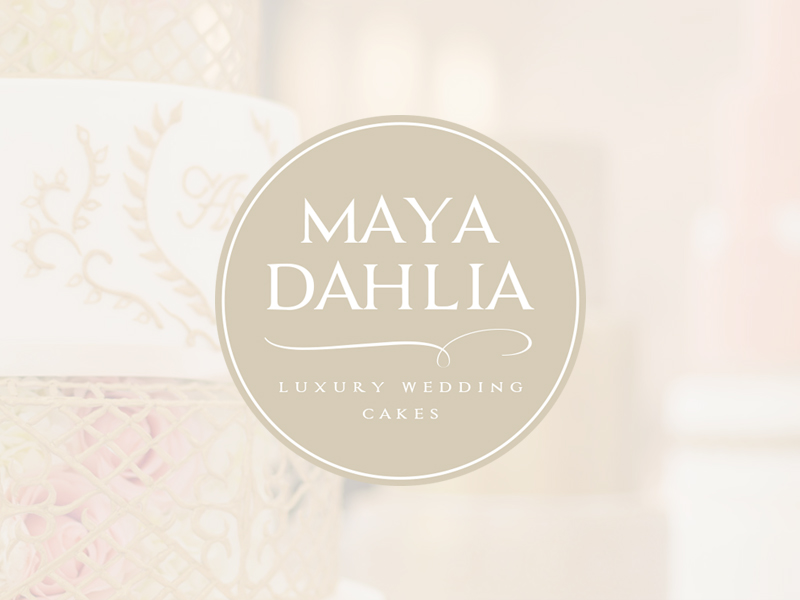 Maya Dahlia - Luxury Wedding Cakes - Branding & Logo Design