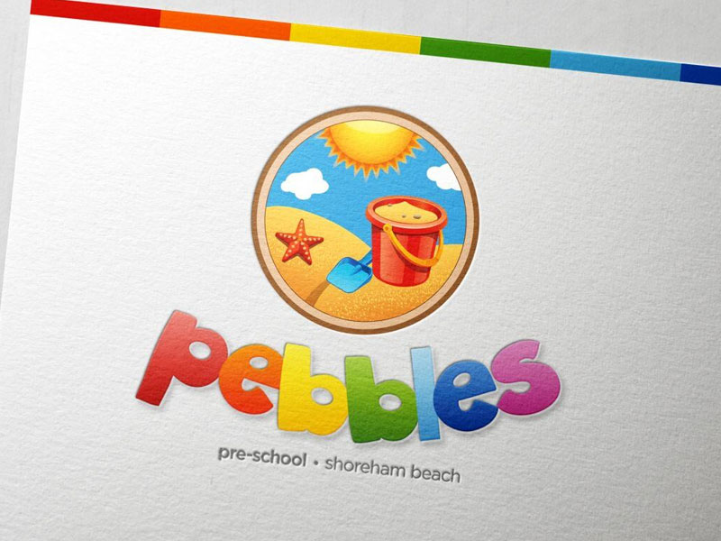 Pebbles Pre-School - The Stepping Stone to School - Branding & Logo Design
