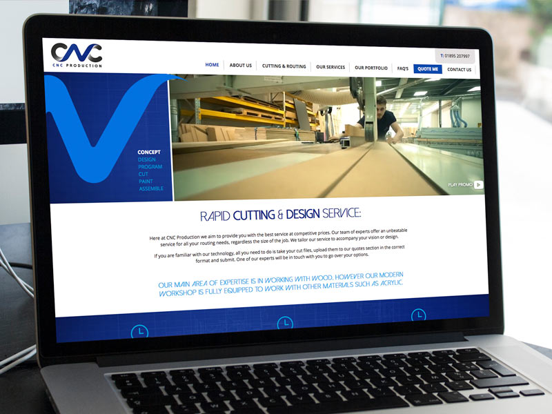 CNC Production - Rapid Cutting & Design - Website Design